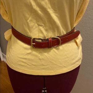 Talbots red belt